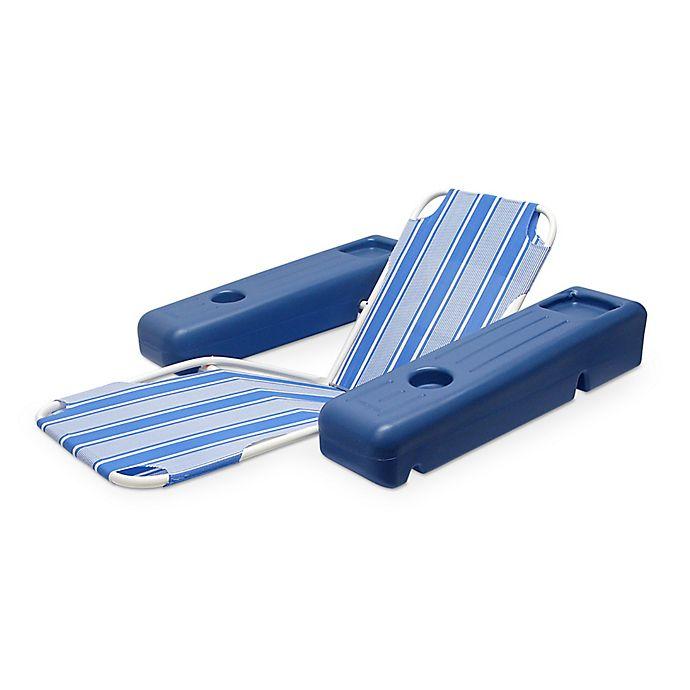 Alternate image 1 for Poolmaster® Caribbean Floating Lounge in Blue