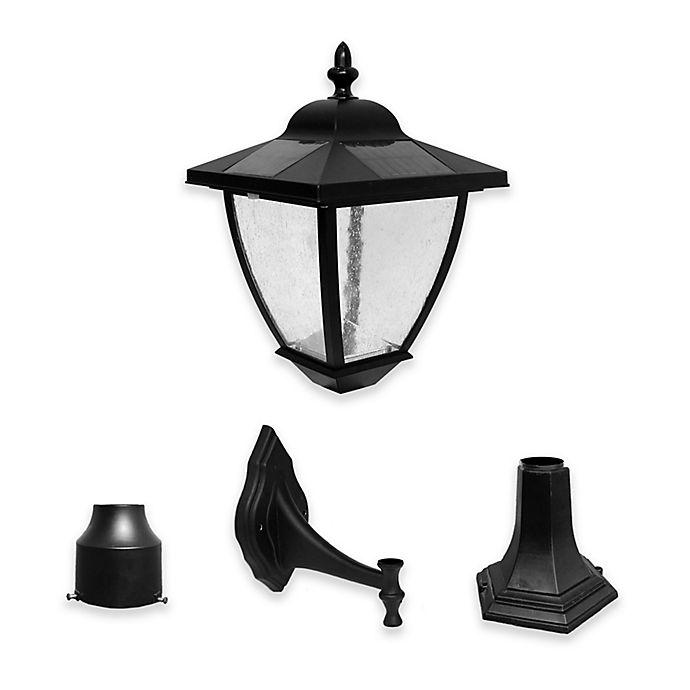 Alternate image 1 for Nature Power Bayport Solar LED Wall Mount Lamp in Black