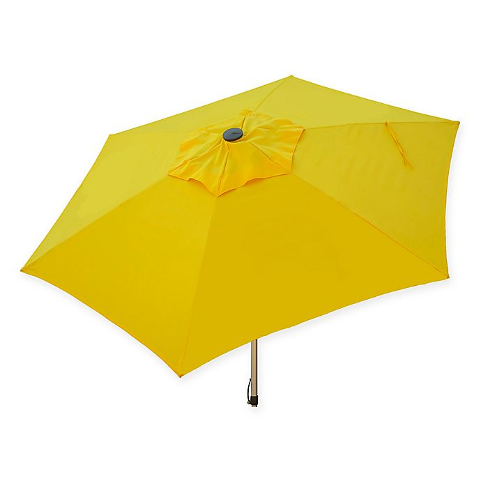 Alternate image 1 for Destinationgear 8.5-Foot Push Up Market Style Umbrella in Yellow
