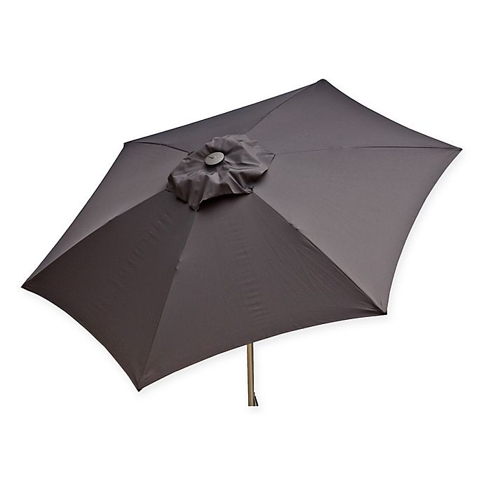 Alternate image 1 for Destinationgear 8.5-Foot Push Up Market Style Umbrella in Grey