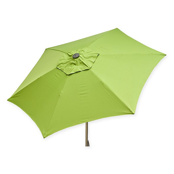 Alternate image 1 for Destinationgear 8.5-Foot Push Up Market Style Umbrella in Lime
