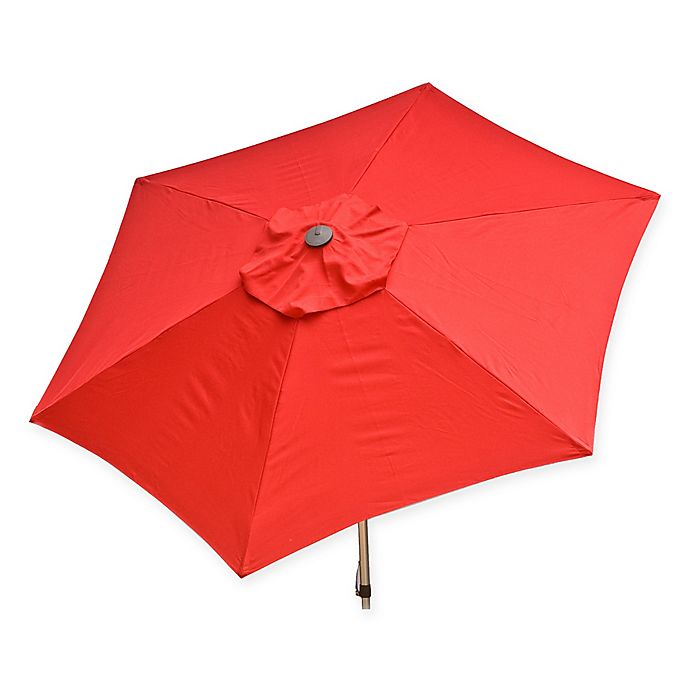 Alternate image 1 for Destinationgear 8.5-Foot Push Up Market Style Umbrella in Red