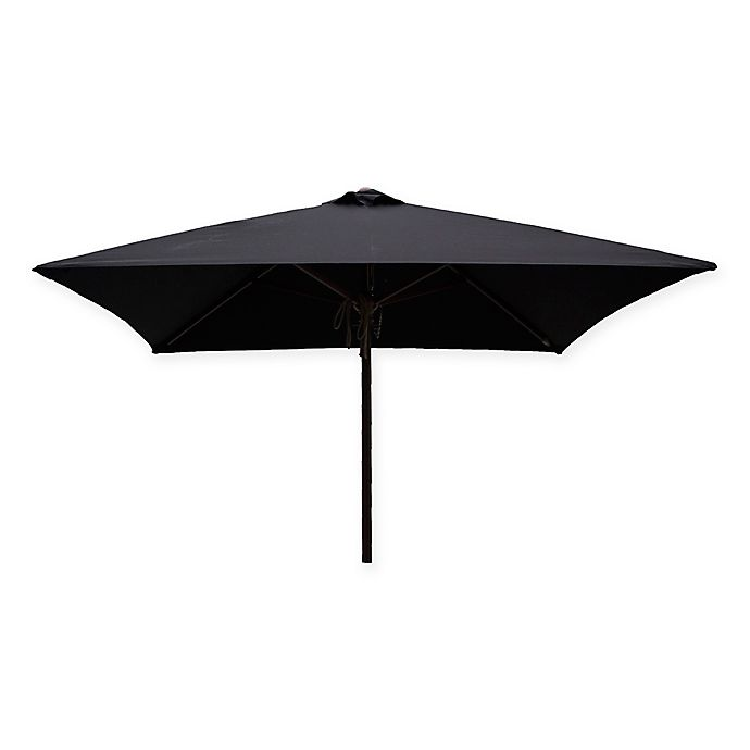 Alternate image 1 for DestinationGear 6.5-Foot Square Wood Umbrella in Black