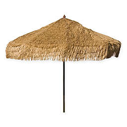 DestinationGear 9-Foot Palapa Wood Patio Umbrella in Brown