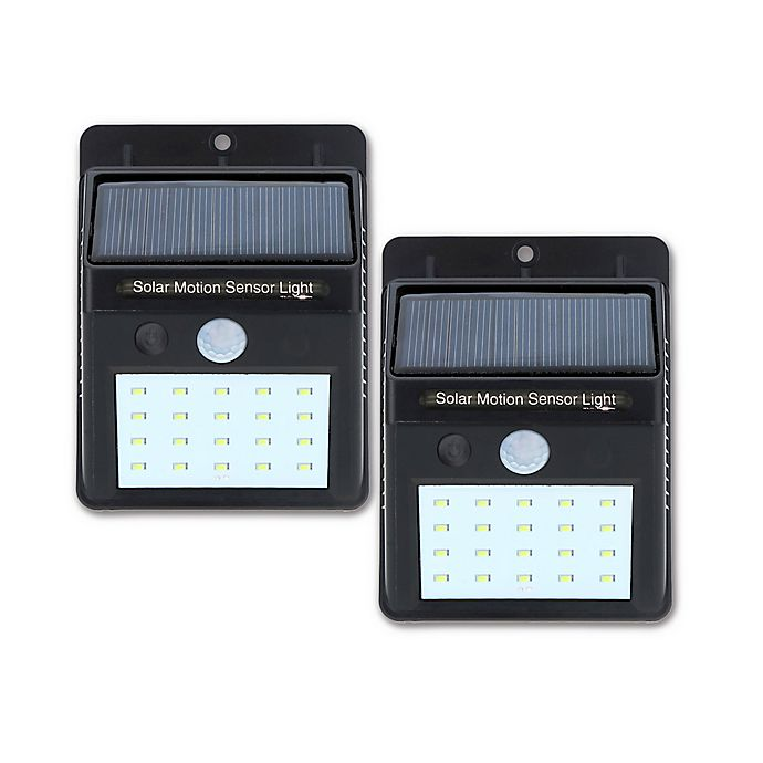 Alternate image 1 for Nature Power LED Solar Motion Wall Light (Set of 2)