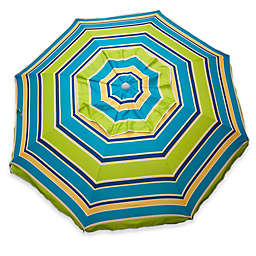 Stripe Beach Umbrella in Lime