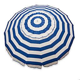 Beach Umbrella in Blue/White