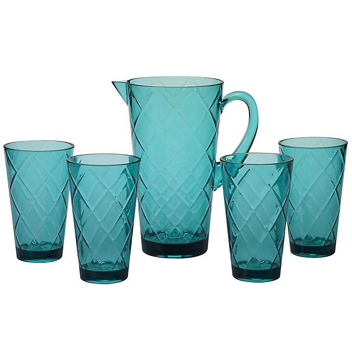 Alternate image 1 for Certified International Diamond 5-Piece Pitcher Set in Teal