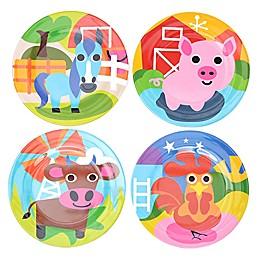 French Bull® Farm Kids Round Plates (Set of 4)