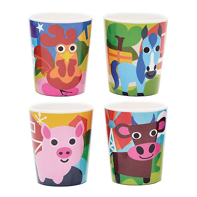 Alternate image 1 for French Bull® Farm Kids Juice Cups (Set of 4)