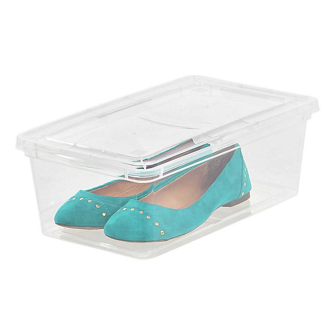 Alternate image 1 for IRIS® 6 qt. Clear Storage Boxes (Set of 18)