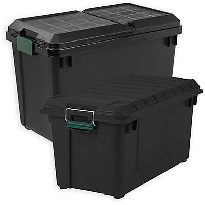 IRIS® Remington® Store-It-All Totes in Black (Set of 4)