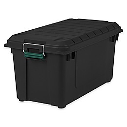 IRIS® 82 qt. Remington® Store-It-All Weathertight® Totes in Black (Set of 4)