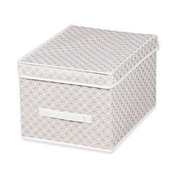 Home Basics® Blossom Large Metallic Storage Box with Lid