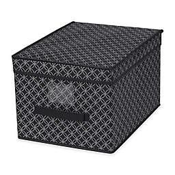 Home Basics® Blossom Large Metallic Storage Box with Lid