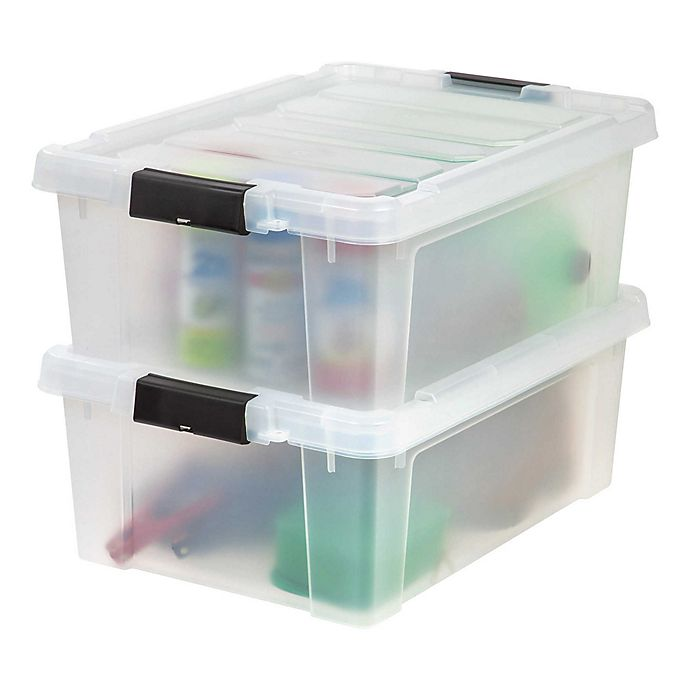 Alternate image 1 for IRIS® Store-It-All 10-Gallon Heavy Duty Storage Totes (Set of 2)