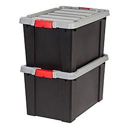 IRIS® Store-It-All 18-Gallon Heavy Duty Storage Totes (Set of 2)