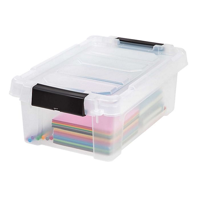 Alternate image 1 for IRIS® Store-It-All 3 Gallon Heavy Duty Storage Totes (Set of 6)