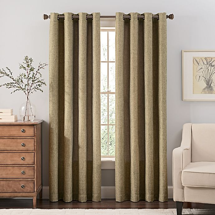 Alternate image 1 for Reina 108-Inch Grommet Top Window Curtain Panel in Green