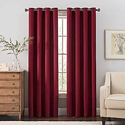 Reina 95-Inch Grommet Top Window Curtain Panel in Merlot
