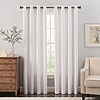 Reina 84-Inch Grommet Top Window Curtain Panel in White