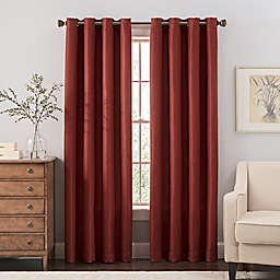 Reina Grommet Top Window Curtain Panel and Valance