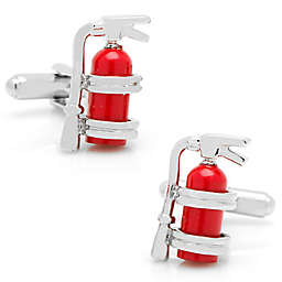 Cufflinks, Inc. Silver-Plated and Enamel Fire Extinguisher Cufflinks