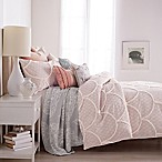 Peri Chenille Scallop Full/Queen Comforter Set in Blush