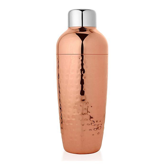 Alternate image 1 for Hammered Copper Cocktail Shaker