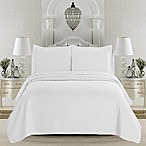 Great Bay Home Emerson King Quilt Set in White