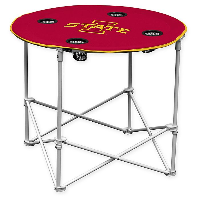 Alternate image 1 for Iowa State University Collapsible Round Table in Red