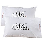 Mr. and Mrs.  Collection Pillowcase Pair
