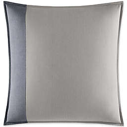 Fairwater European Pillow Sham in Medium Blue/Grey
