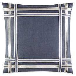 Nautica® Fairwater Embroidered Tape Throw Pillow in Medium Blue