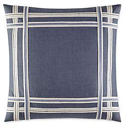 Nautica® Fairwater Embroidered Tape Throw Pillow in Medium Blue