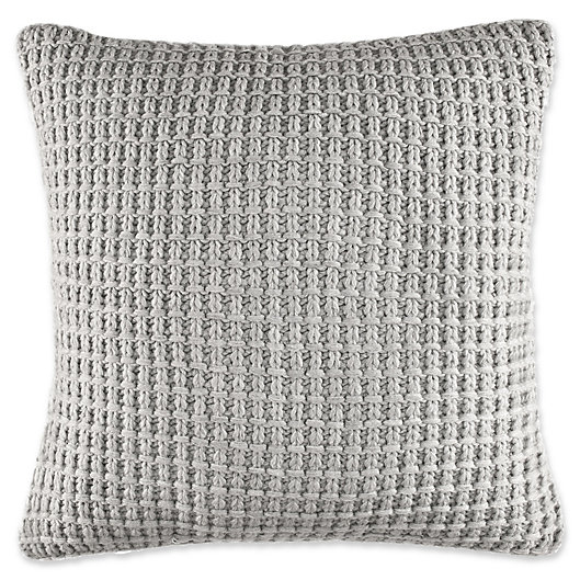 Alternate image 1 for Nautica® Fairwater Knit Throw Pillow in Grey