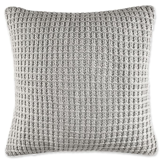 Alternate image 1 for Fairwater Knit Throw Pillow in Grey