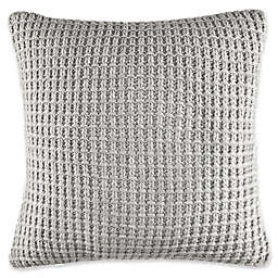 Fairwater Knit Throw Pillow in Grey