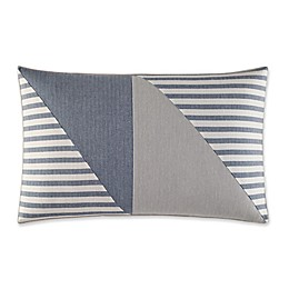 Nautica® Fairwater Pieced Geometric Throw Pillow in Medium Blue/Grey