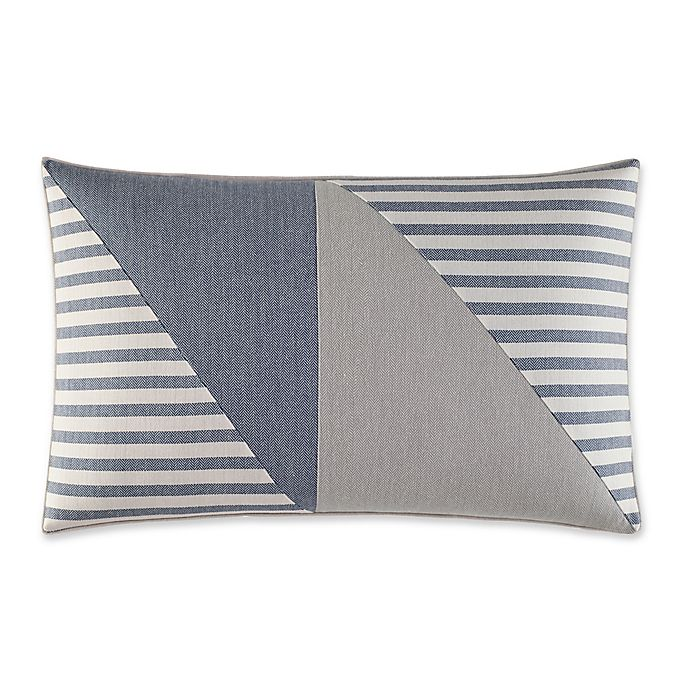 Alternate image 1 for Fairwater Pieced Geometric Throw Pillow in Medium Blue/Grey
