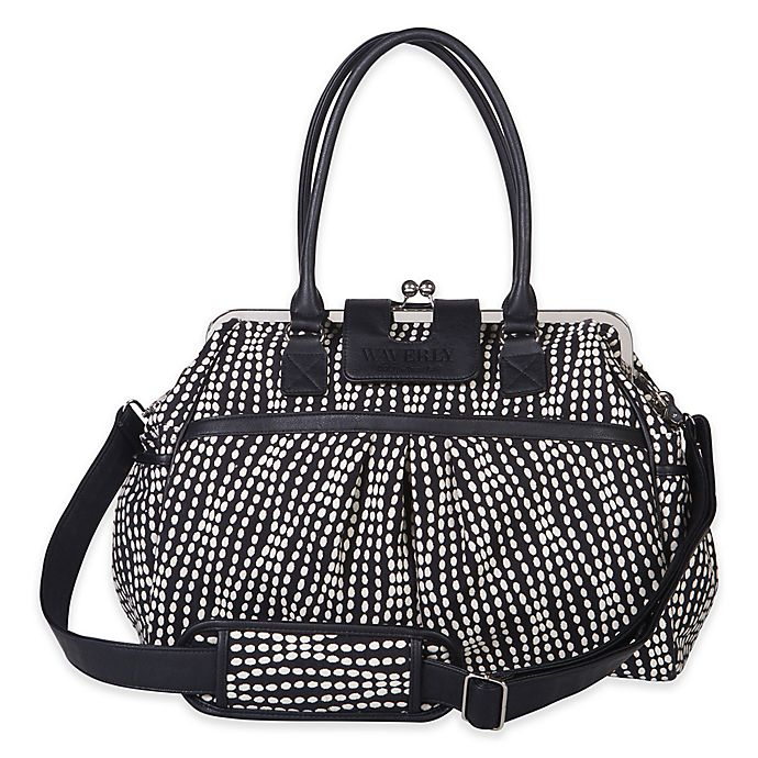 Alternate image 1 for Waverly® Baby by Trend Lab® Strands Tuxedo Framed Diaper Bag