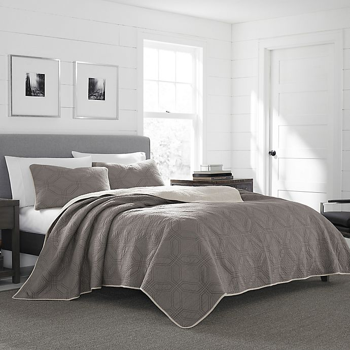 Alternate image 1 for Eddie Bauer® Axis King Quilt Set in Grey
