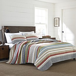 Eddie Bauer® Salmon Ladder Stripe Quilt Set