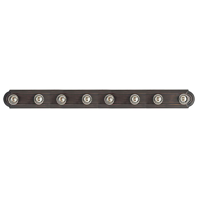 Alternate image 1 for Maxim Lighting Essentials 7-Light Wall-Mount Bath Vanity Light Fixture in Oil Rubbed Bronze