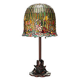 Tiffany Style Pond Lily Stained 2-Light Table Lamp