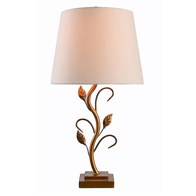 Alternate image 1 for Kenroy Home Berkley Table Lamp in Gold with Cream Fabric Shade