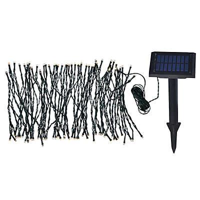 Kenroy Home 100-Light Solar Garden String Lights in Black