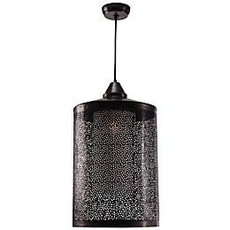 Kenroy Home Sorcerer 1-Light Pendant Light in Black