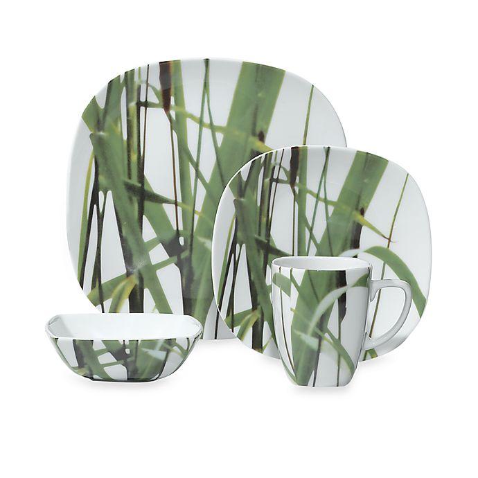 Alternate image 1 for Euro Ceramica New Grass 16-Piece Dinnerware Set