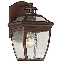 The Great Outdoors by Minka-Lavery® Sunnybrook 1-Light Alder Wall Mount in Bronze